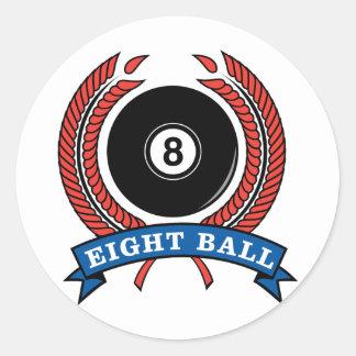 Billiards Eight Ball Classic Round Sticker