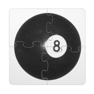 Billiards Eight Ball Puzzle Coaster