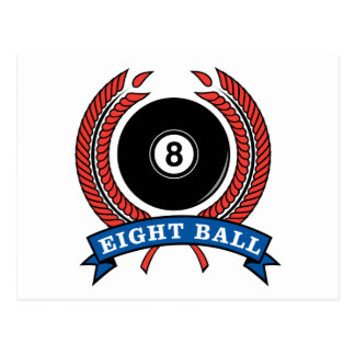 Billiards Eight Ball Postcard