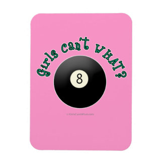 Billiards Eight Ball Vinyl Magnet