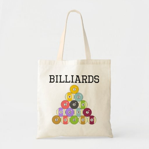 Billiards Eight Ball Rack Tote Bag