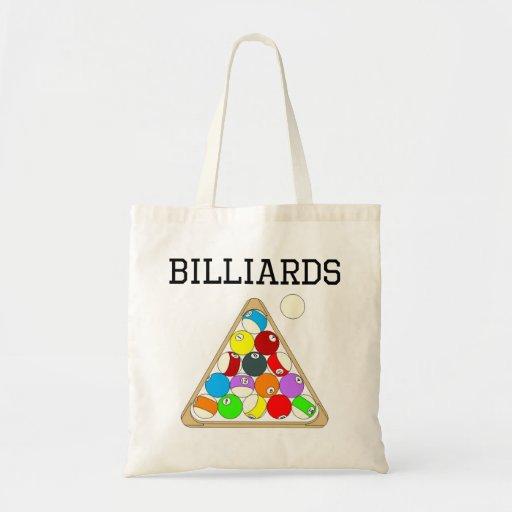 Billiards Eight Ball Rack Canvas Bag