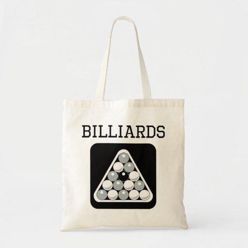 Billiards Eight Ball Rack Tote Bags