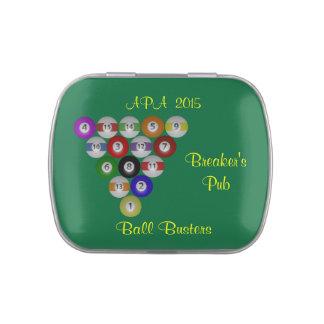 Billiards Eight Ball Rack Jelly Belly Tins