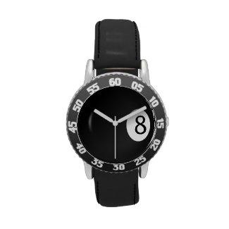 Billiards Eight Ball Sports Wrist Watch