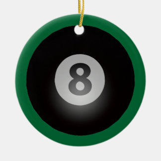 Billiards Eight Ball Team Award Ceramic Ornament