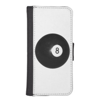 Billiards Eight Ball Wallet Phone Case For iPhone SE/5/5s