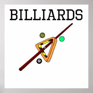 Billiards Equipment Poster