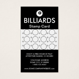 BILLIARDS focus stamp card