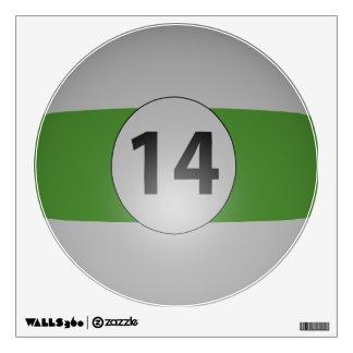 Billiards Fourteen Ball Wall Sticker