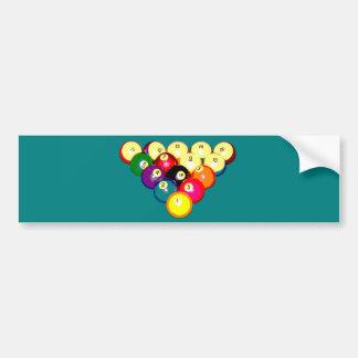 Billiards Full 8-Ball Rack Bumper Sticker