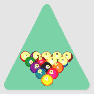 Billiards Full 8-Ball Rack Triangle Sticker