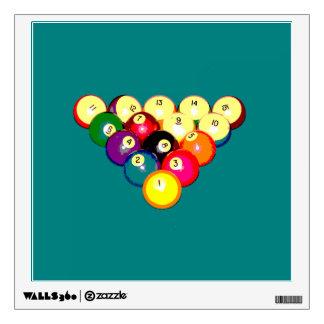 Billiards Full 8-Ball Rack Wall Sticker