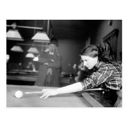 Billiards Game, 1910 Postcard