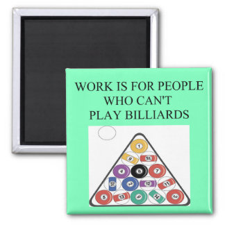 billiards game 2 inch square magnet