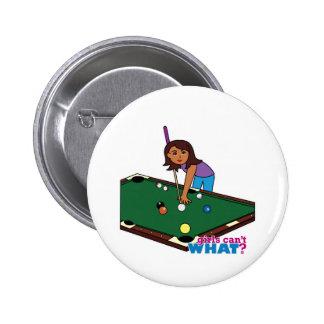 Billiards Girl Dark Pinback Button