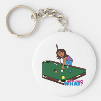Billiards Girl Dark Keychains