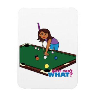 Billiards Girl Dark Flexible Magnet