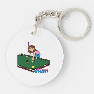 Billiards Girl Keychain