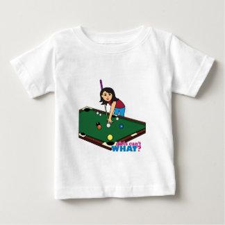 Billiards Girl Medium Baby T-Shirt