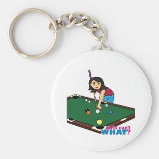 Billiards Girl Medium Key Chains