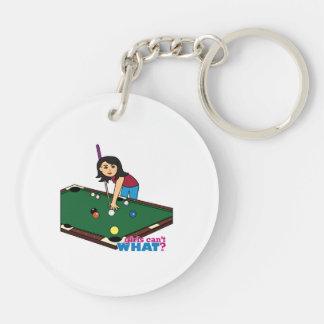 Billiards Girl Medium Acrylic Keychain
