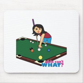 Billiards Girl Medium Mouse Pad
