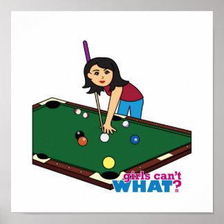 Billiards Girl Medium Poster