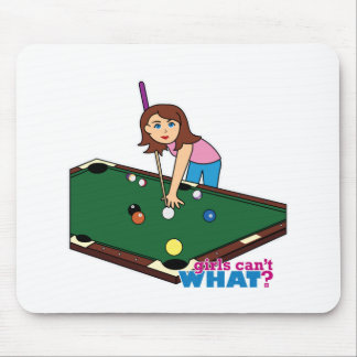 Billiards Girl Mouse Pad