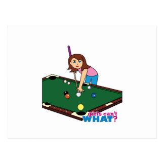 Billiards Girl Post Card