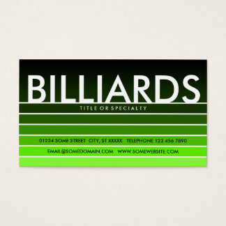 BILLIARDS green swatch Business Card