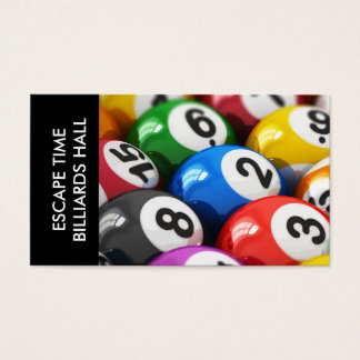 Billiards Hall Business Cards