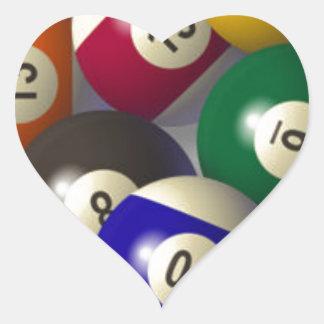 Billiards Heart Sticker