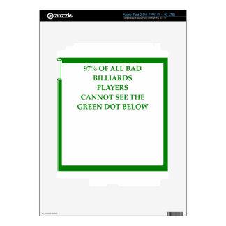 BILLIARDS iPad 3 DECALS
