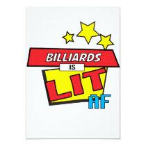 Billiards is LIT AF Pop Art comic book style Card