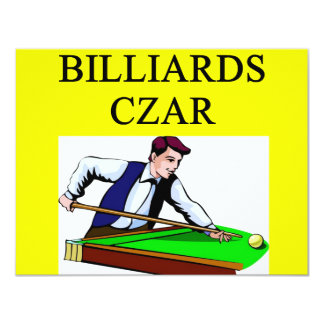 BILLIARDS joke Card