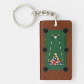 Billiards Rectangle Acrylic Keychain