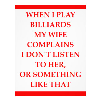 BILLIARDS LETTERHEAD