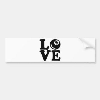 Billiards love bumper stickers