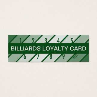 billiards loyalty card (retrograde)