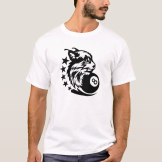 billiards lynx logo swell black 8 T-Shirt