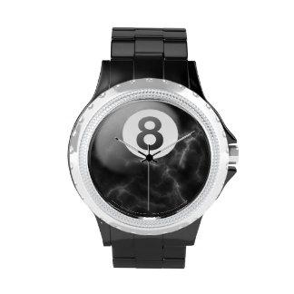 Billiards marble 8 ball watch