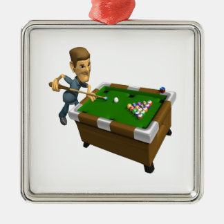 Billiards Metal Ornament