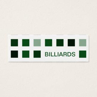 BILLIARDS (mod squares) Mini Business Card