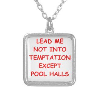 billiards custom necklace