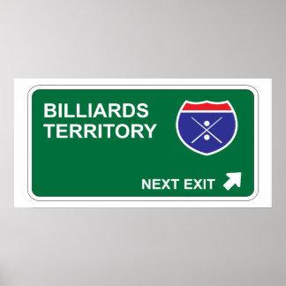 Billiards Next Exit Poster