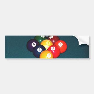 Billiards Nine Ball Bumper Sticker