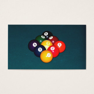 Billiards Nine Ball Business Card