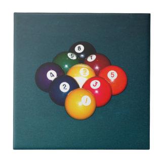 Billiards Nine Ball Ceramic Tile