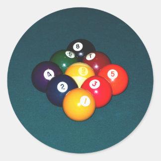 Billiards Nine Ball Classic Round Sticker